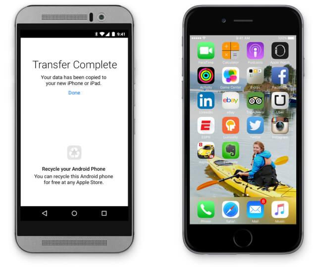 Consumidores de Europa presionan a Apple para que desarrolle una aplicación de Move To Android