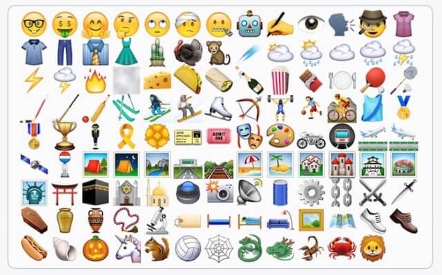 Emojis iOS 9.1