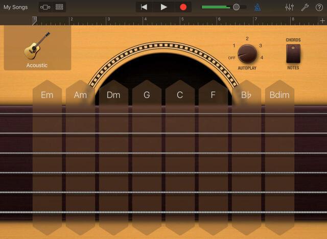 GarageBand para iOS, con Bucles, guitarras, bajos, y gran cantidad de sonidos en vivo