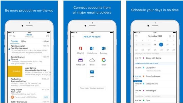 Outlook para iOS incluye Skype