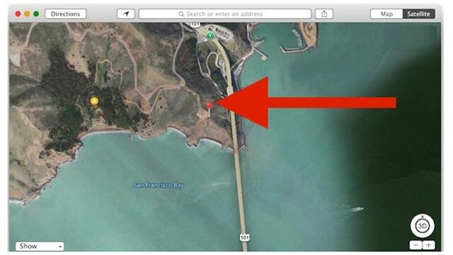 Vista en la aplicacion Maps