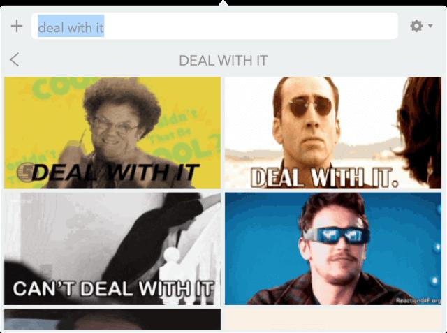 busqueda de GIF por tema