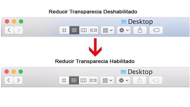 cambio de la interfaz de usuario