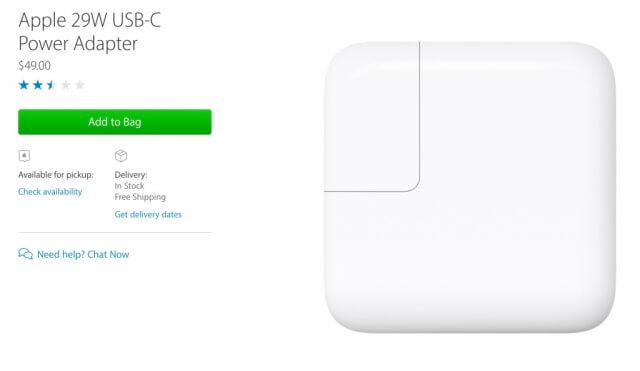 cargador de 29 W para MacBook