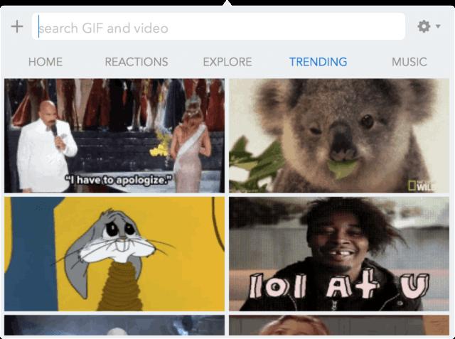 categoria de GIF mas populares