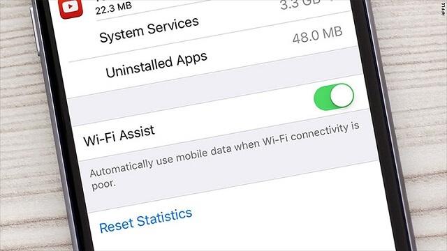 el Wi-Fi Assist tiene una particular función que