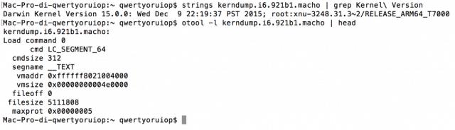 el usuario Todesco fue muy inteligente al publicar los Kernel Dumps de iOS 9.2.1