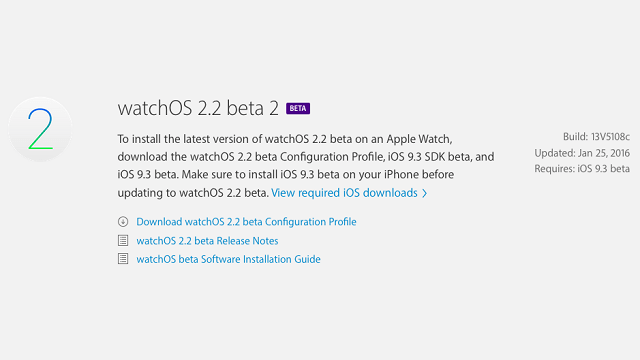 watchOS 2.2 - Ya disponible beta 2 para desarrolladores - copia