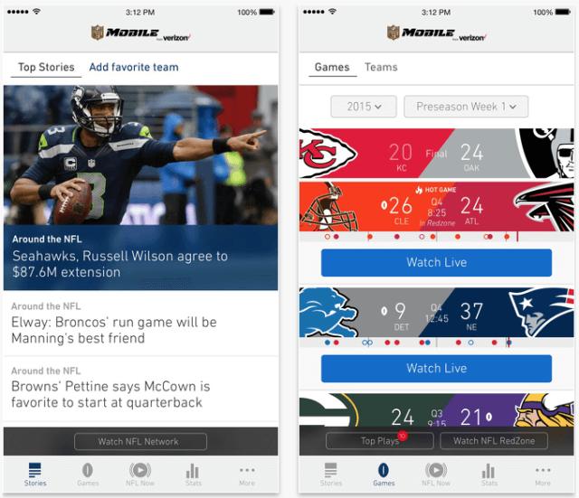 1. Ver el Super Bowl desde iPhone