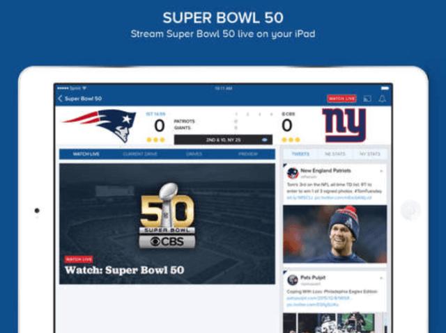 2. Ver el Super Bowl desde iPad