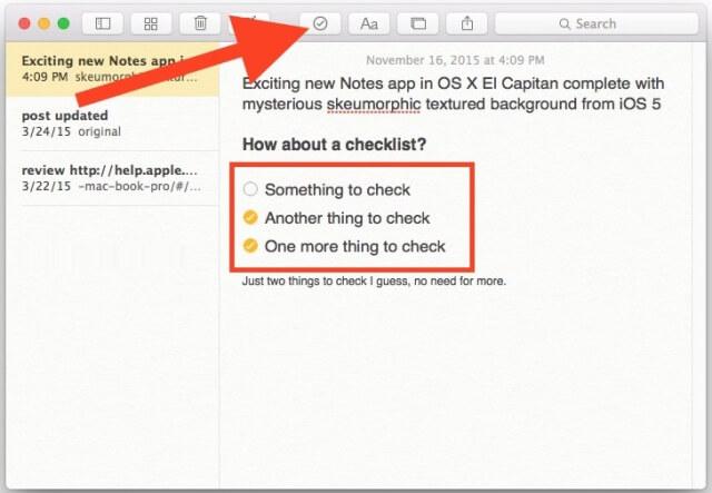 4. Crear lista de comprobacion en Mac
