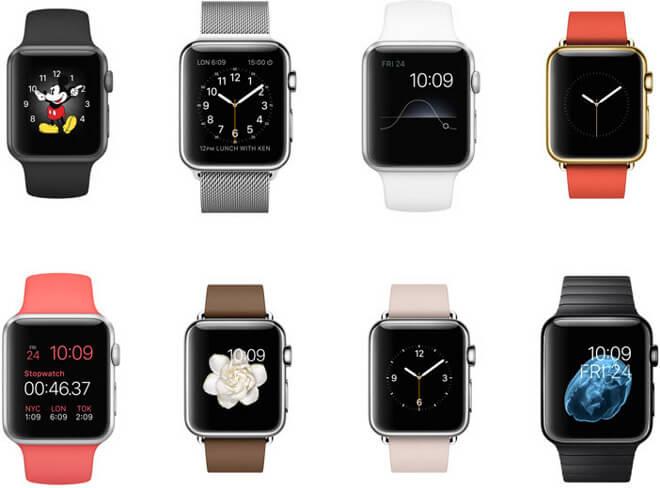 Aple Watch caras