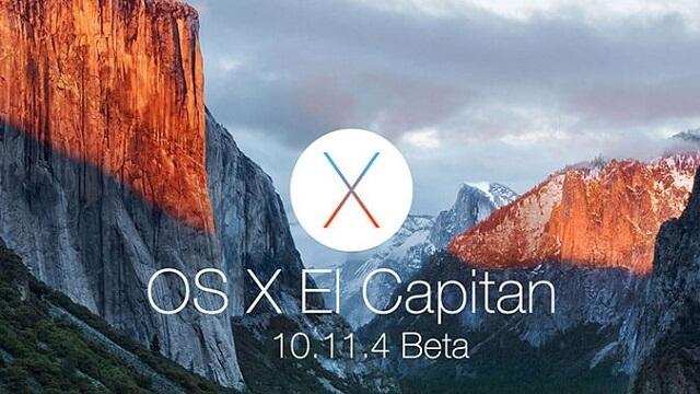 Apple libera su cuarta beta pública de OS X 10.11.4