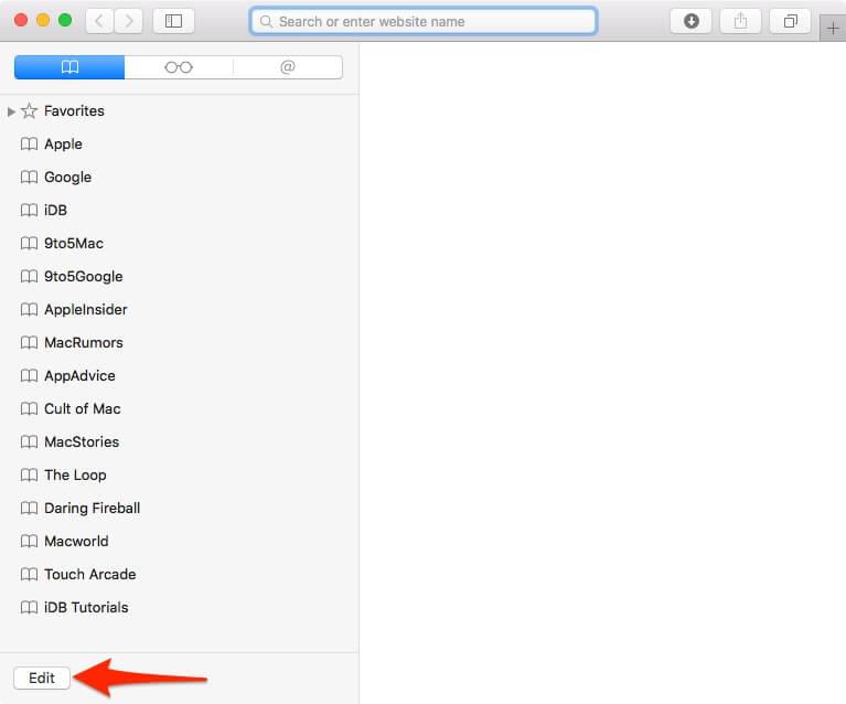 Boton Editar en la barra lateral