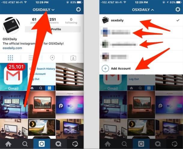 Cómo pasar de una cuenta de Instagram-3.1