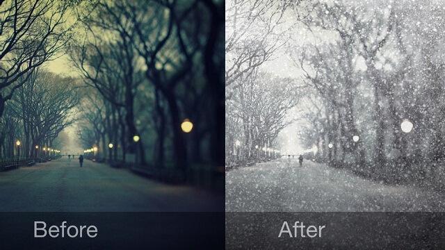 Como utilizar la aplicación Snow Daze para editar sus fotos - copia