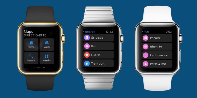 Mapas Apple Watch