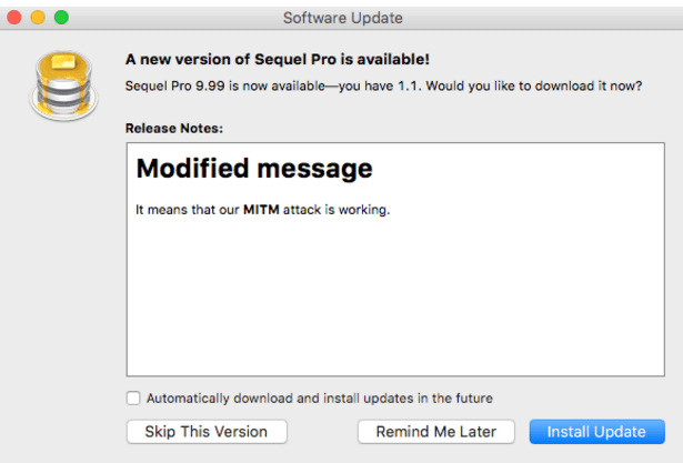 No actualizar apps desde el Updater