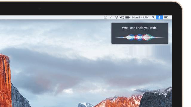 Siri en OS X 10.12
