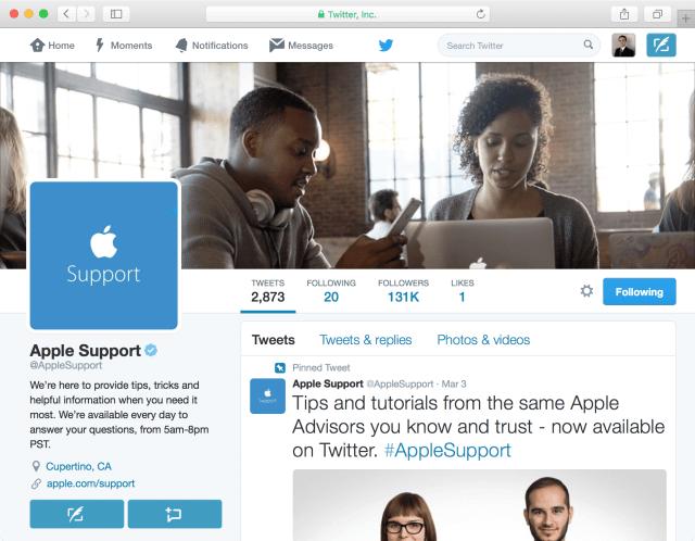 ¿Por qué hacer una cuenta de apoyo en Twitter fue una gran jugada para Apple