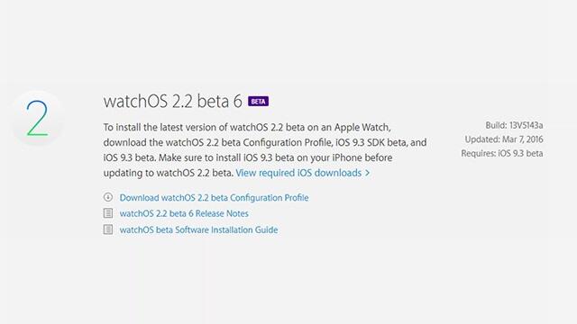 Apple libera la sexta beta de WatchOS 2.2 para desarrolladores - copia