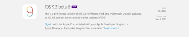 Apple revela su sexta beta para iOS 9.3