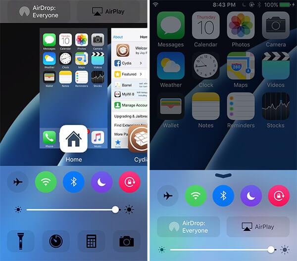 Cream  Botones de colores en el ControlCenter  Cydia iOS 9