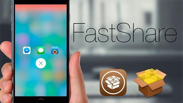 FastShare  Comparte algo facilmente en tus redes sociales  Cydia iOS 9