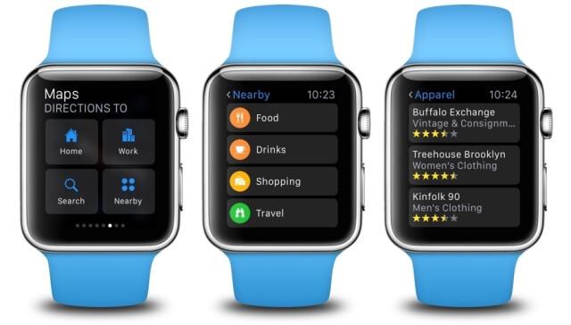 Mapas, Apple Watch