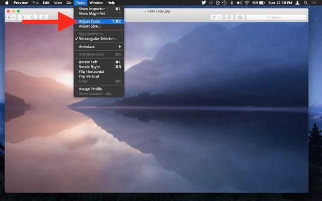 OS X Preview app saturar imagen (2)
