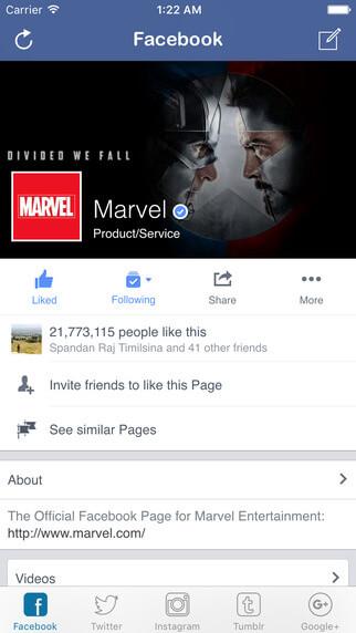 Social Square Facebook