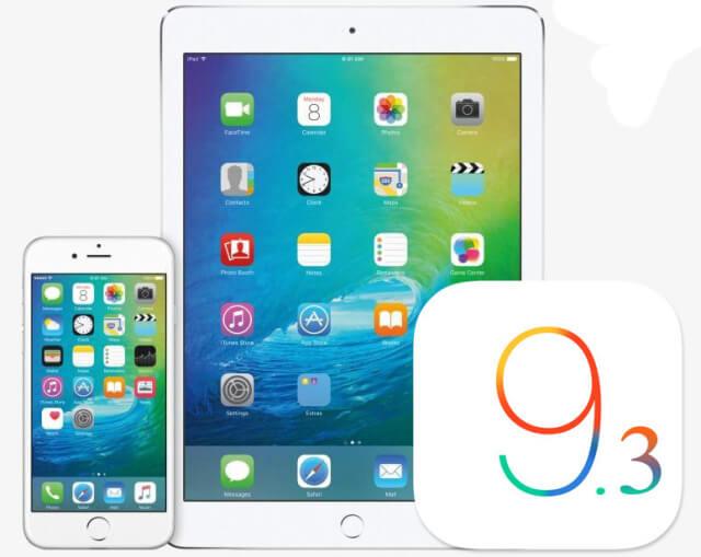beta iOS 9.3