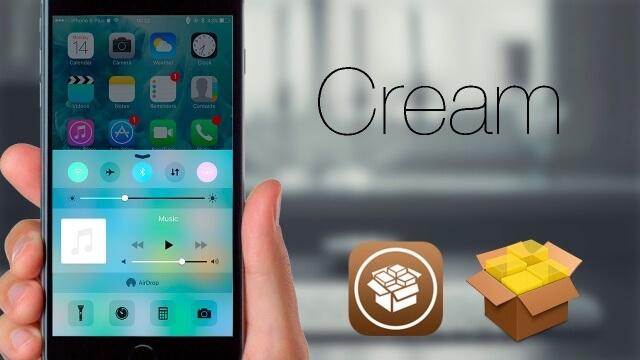 Cream: Botones de colores en el Centro de Control