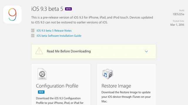 iOS 9.3 beta 5 2