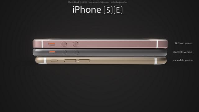 vista lateral de los 3 posible diseños, botones de volumen