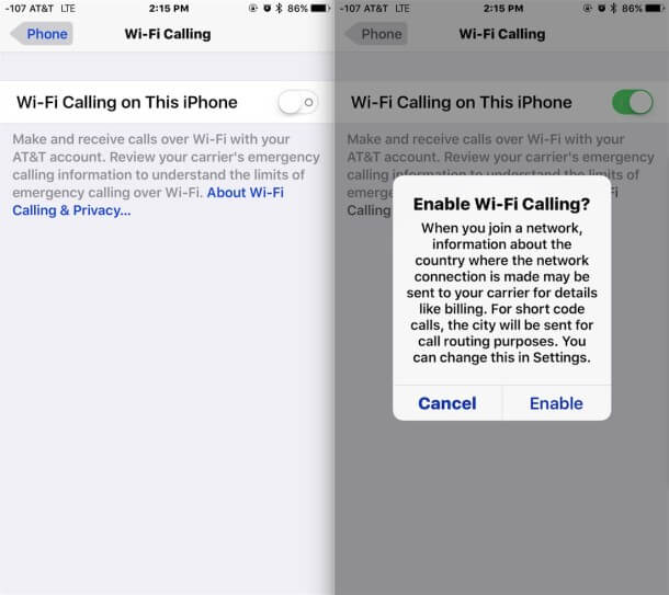 wifi phone calls iphone como hacer llamadas wifi con tu iphone iphoneate ineate 16508
