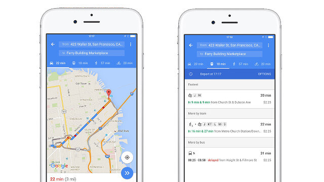 how to change travel time on google maps