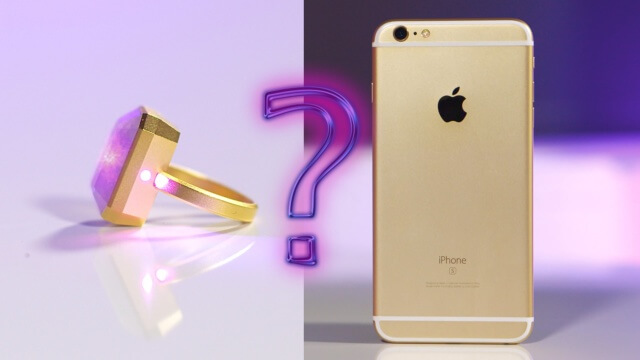 RINGLY: El anillo inteligente de 18K para usted iPhone
