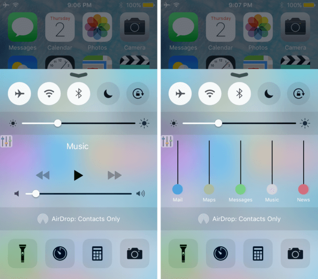 VolumePanel-via-Control-Center