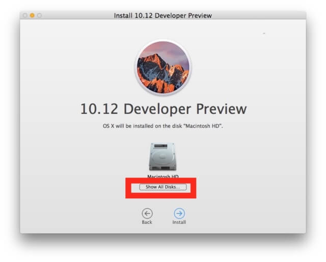 choose-show-all-disks-macos-sierra-installer