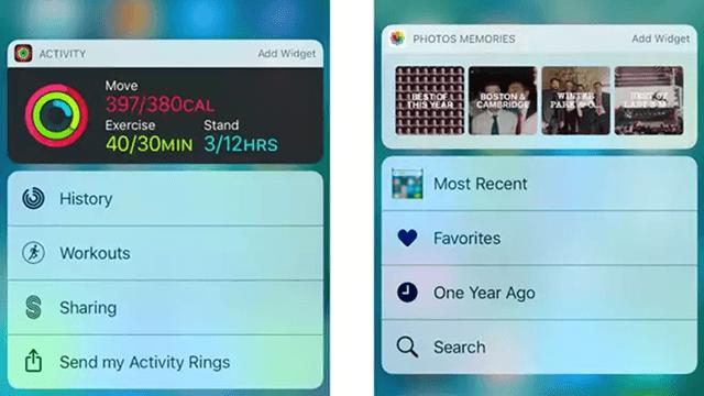 iOS10 widgets