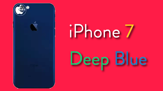 iPhone siete Deep Blue