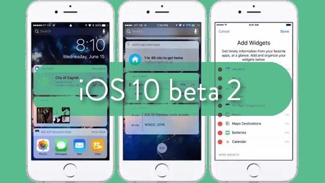 segunda beta pública de iOS™ 10