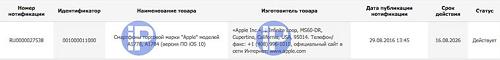 Certificadora del iPhone 7 y 7 Plus