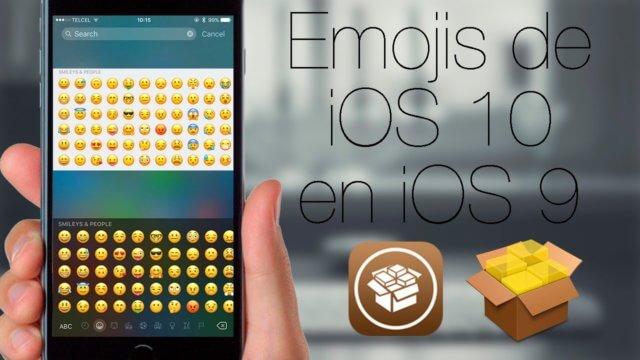 Emojis de iOS 10 en iOS 9 con Jailbreak