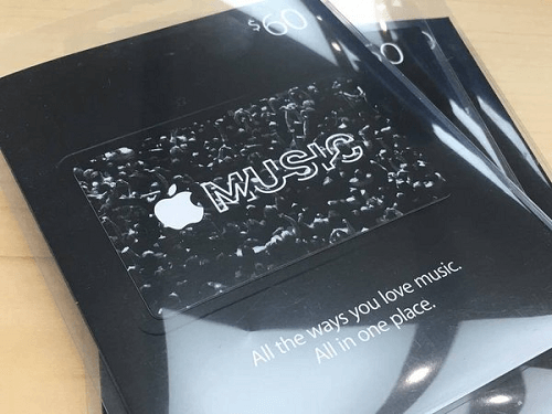 Gift cards de Apple Music
