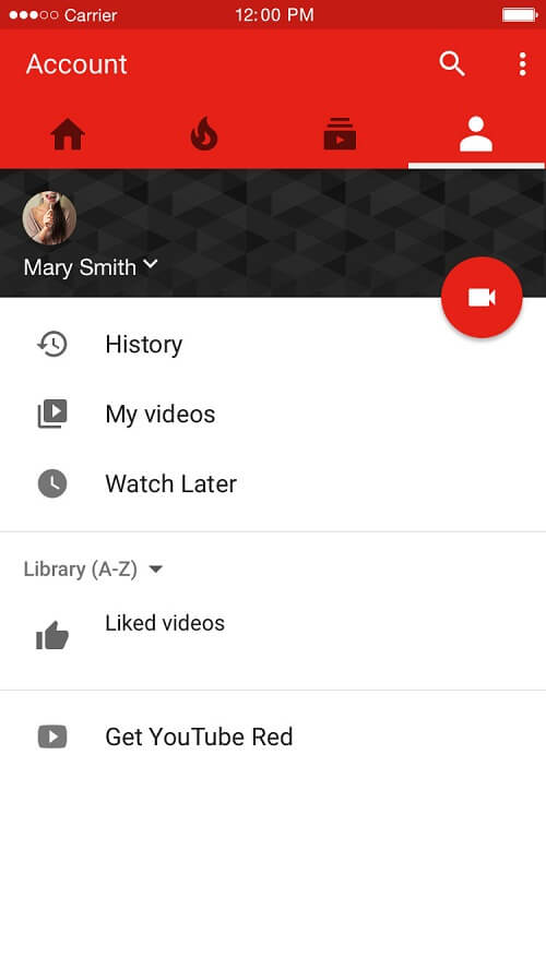 YouTube 3D Touch