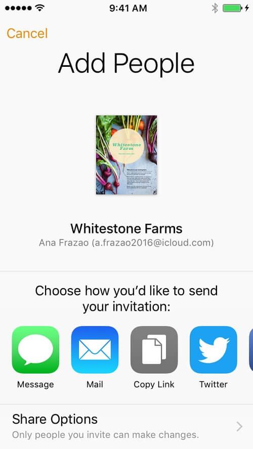 iWork App Apple