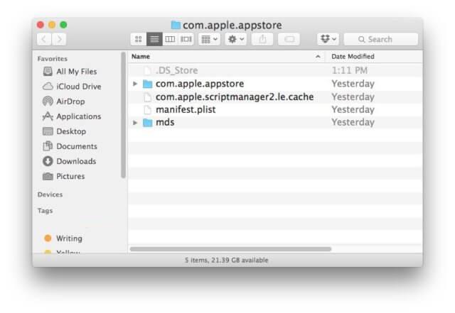 delete-mac-app-store-cache-temp-data