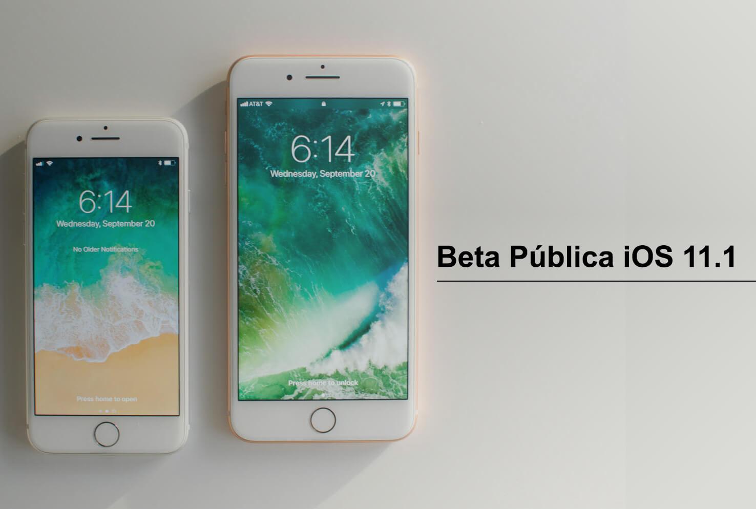 Beta Pública iOS 11.1